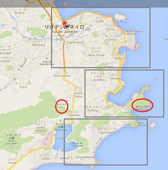 リオデジャネイロGoogle マップ