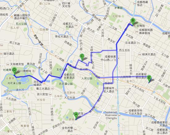 成都   Google マップ