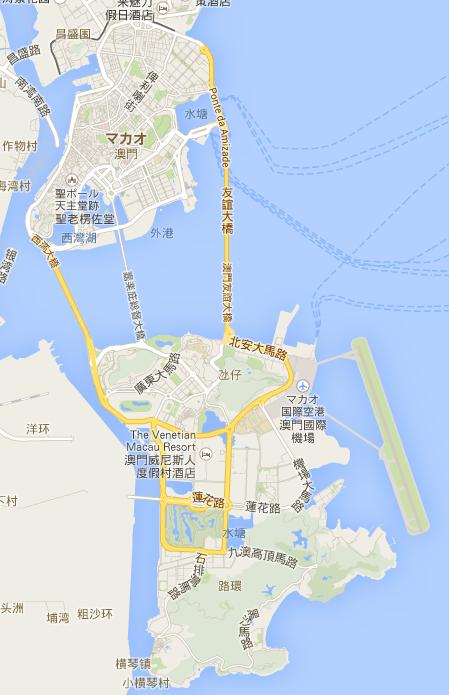 マカオ   Google マップ