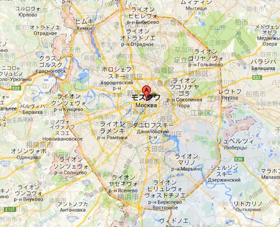 モスクワGoogle-マップ
