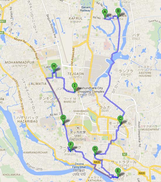 Dhaka マップ