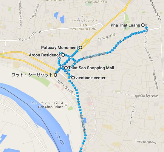 Talat Sao Shopping Mall から ラオ・ブルーワリー・カンパニー・リミティッド   Google マップ