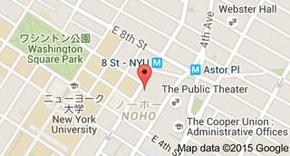 ニューヨーク大学ブックストア地図