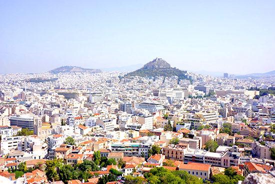 アクロポリスから街を見る